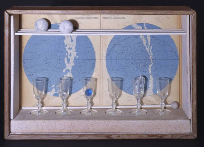 Planet Set, Tête Etoilée, Giuditta Pasta (dédicace) 1950 by Joseph Cornell 1903-1972