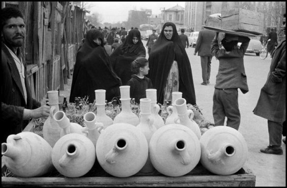 IRAN. Tahran. 1958. Street scene near the bazaar.
